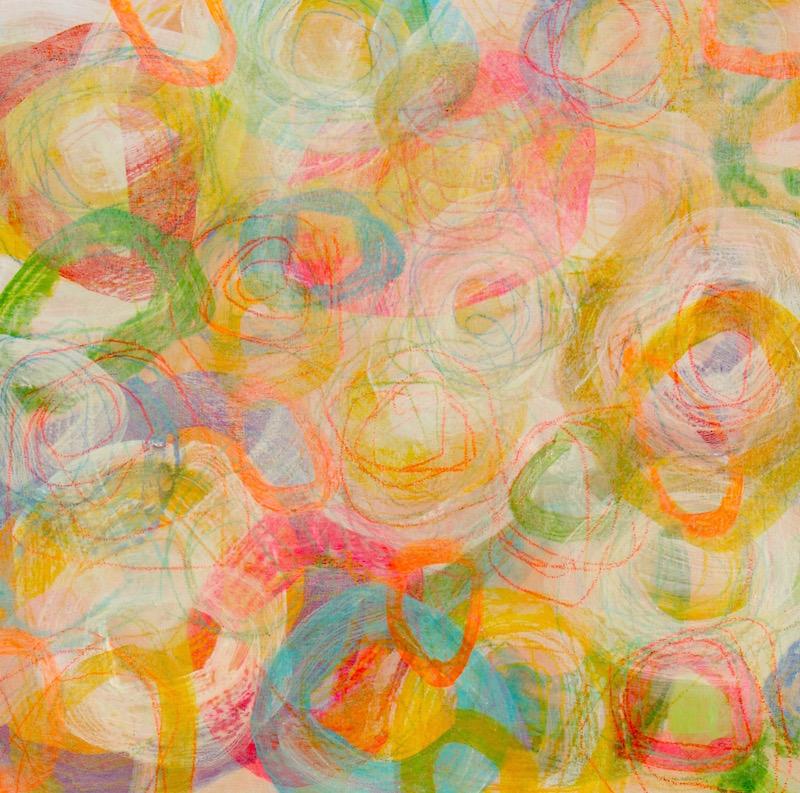 peinture art visuel contemporain abstrait