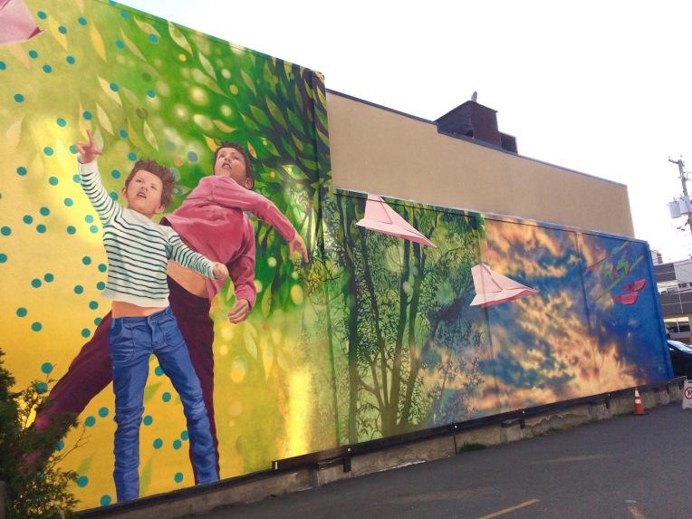 Ariane Ouellet murale Rouyn-Noranda art public