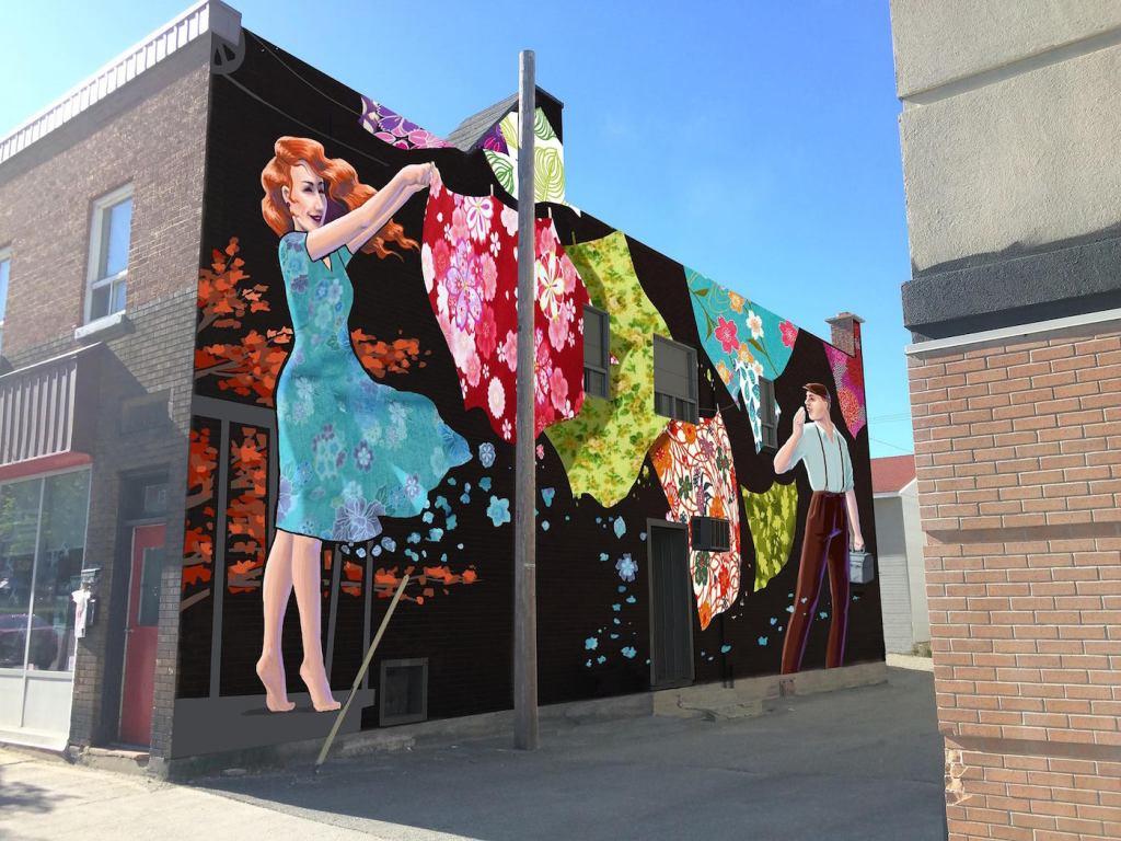 murale art public Rouyn-Noranda