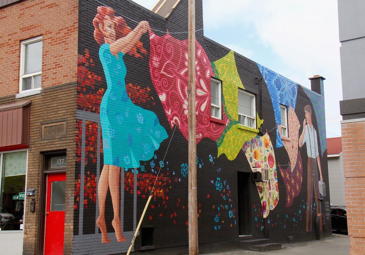 murale Rouyn-Noranda art public