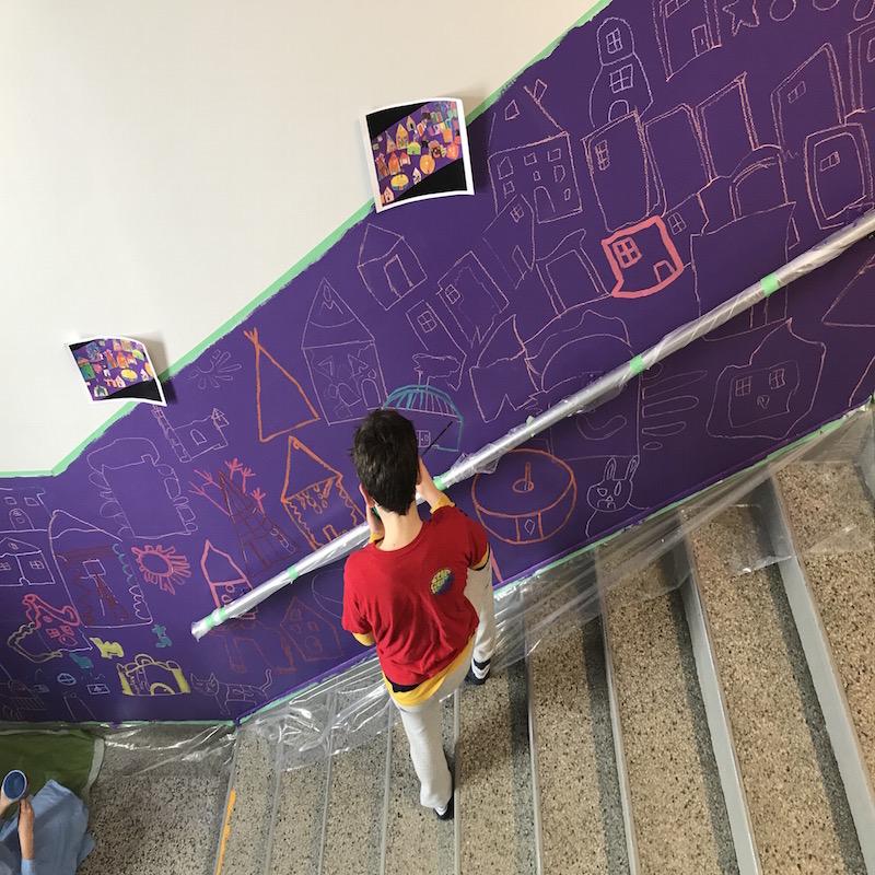 artiste à l'école culture éducation Abitibi-Témiscamingue murale