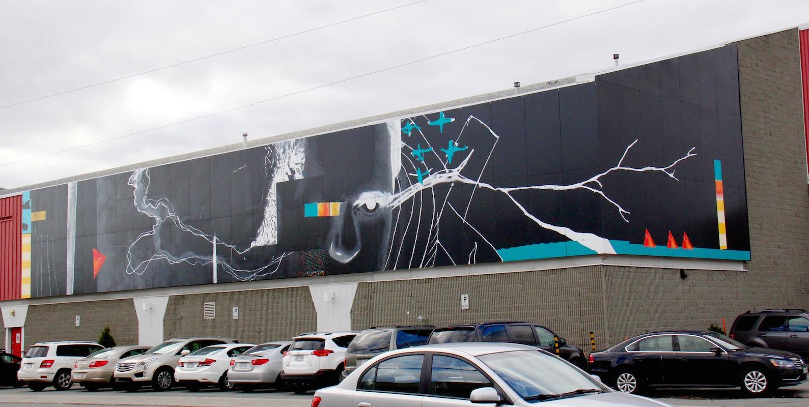 murale art public Rouyn-Noranda Karine Berthiaume