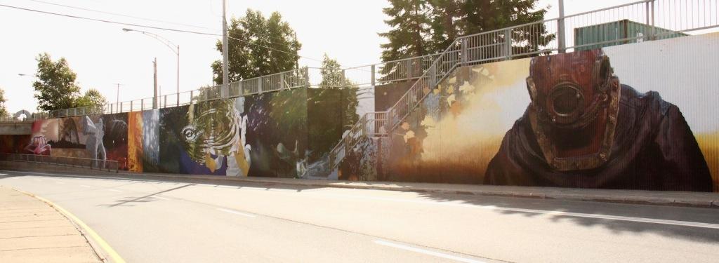 murale art public Rouyn-Noranda Richard Desjardins