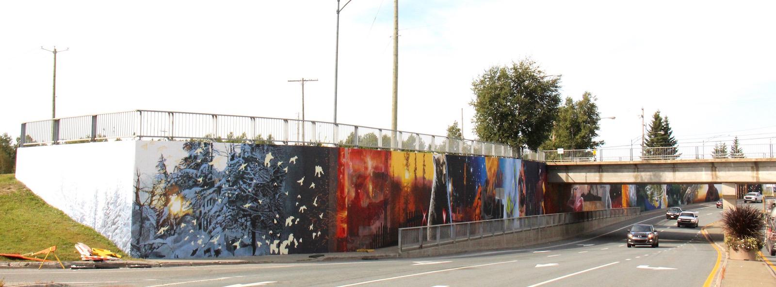 murale art public Abitibi-Témiscamingue Desjardins