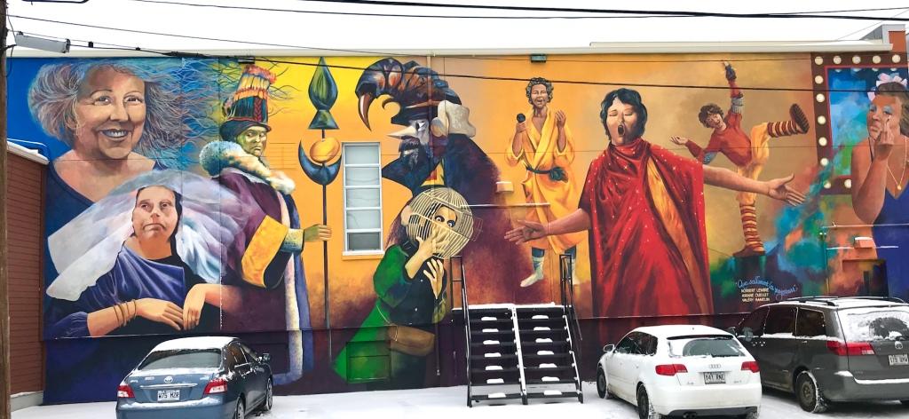murale art public petit théâtre rouyn