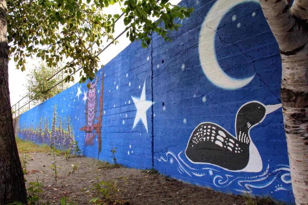 murale art public Premières Nations Abitibi-Témiscamingue