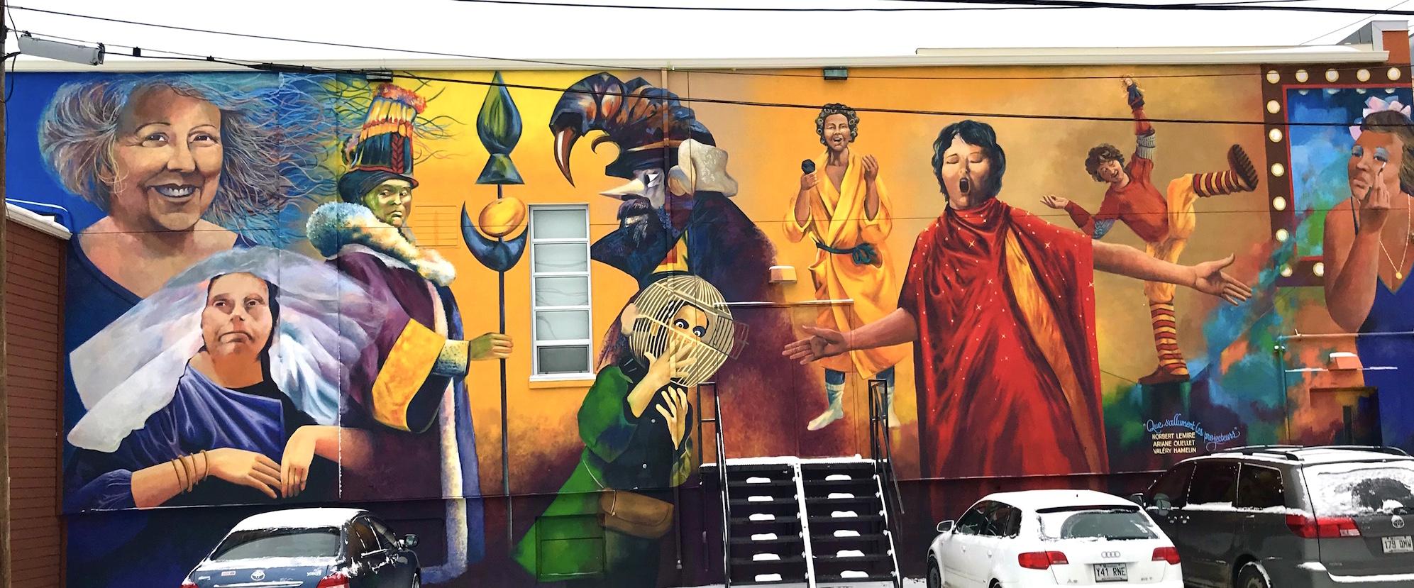 murale art public Petit Théâtre Noranda Abitibi-Témiscamingue
